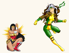 wonder woman vs rogue voxnewman fight club